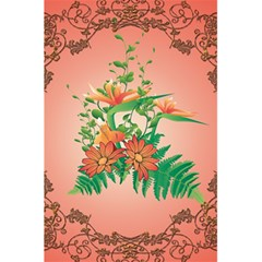 Awesome Flowers And Leaves With Floral Elements On Soft Red Background 5 5  X 8 5  Notebooks by FantasyWorld7