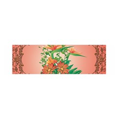 Awesome Flowers And Leaves With Floral Elements On Soft Red Background Satin Scarf (oblong) by FantasyWorld7