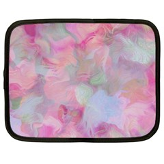 Soft Floral Pink Netbook Case (large) by MoreColorsinLife