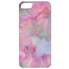 Soft Floral Pink Apple Iphone 5 Classic Hardshell Case by MoreColorsinLife