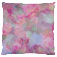 Soft Floral Pink Large Flano Cushion Cases (one Side)  by MoreColorsinLife