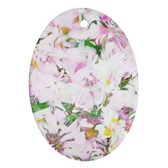 Soft Floral, Spring Ornament (oval)  by MoreColorsinLife