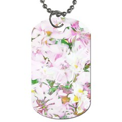 Soft Floral, Spring Dog Tag (two Sides) by MoreColorsinLife