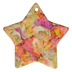 Soft Floral,roses Ornament (star)  by MoreColorsinLife