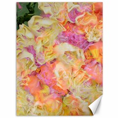 Soft Floral,roses Canvas 36  X 48   by MoreColorsinLife