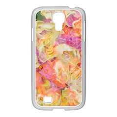 Soft Floral,roses Samsung Galaxy S4 I9500/ I9505 Case (white) by MoreColorsinLife