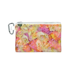 Soft Floral,roses Canvas Cosmetic Bag (S)