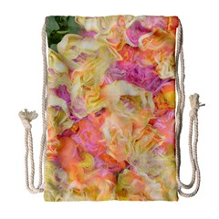 Soft Floral,roses Drawstring Bag (large) by MoreColorsinLife