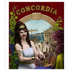Concordia Salsa Tile Bag Regular Cover By Thomas Covert   Drawstring Pouch (large)   Qpnpiwusn9cq   Www Artscow Com Front