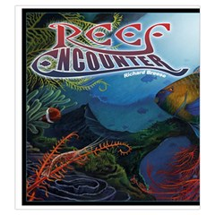 Reef Encounter  By Thomas Covert   Drawstring Pouch (large)   620prz2qrqxl   Www Artscow Com Front