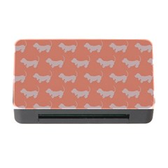 Cute Dachshund Pattern in Peach Memory Card Reader with CF by LovelyDesigns4U