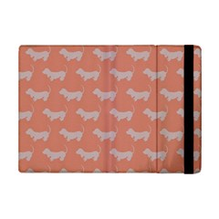Cute Dachshund Pattern In Peach Ipad Mini 2 Flip Cases by LovelyDesigns4U