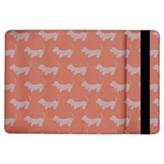 Cute Dachshund Pattern In Peach Ipad Air Flip by LovelyDesigns4U