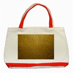 Gold Plastic Classic Tote Bag (red)  by trendistuff