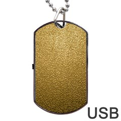 Gold Plastic Dog Tag Usb Flash (one Side) by trendistuff