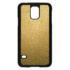 Gold Plastic Samsung Galaxy S5 Case (black) by trendistuff