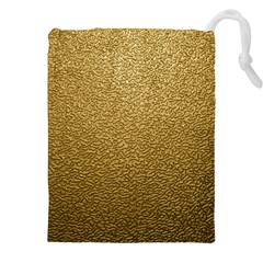 Gold Plastic Drawstring Pouches (xxl) by trendistuff
