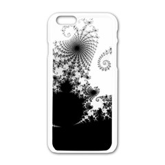 Fractal Apple Iphone 6/6s White Enamel Case by trendistuff