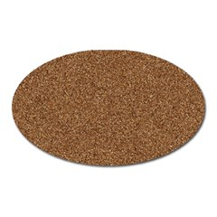 Dark Brown Sand Texture Oval Magnet by trendistuff