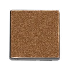 Dark Brown Sand Texture Memory Card Reader (square) by trendistuff