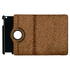 Dark Brown Sand Texture Apple Ipad 2 Flip 360 Case by trendistuff
