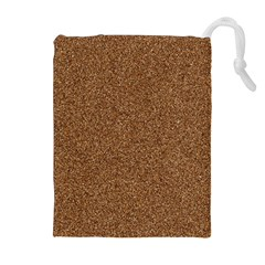 Dark Brown Sand Texture Drawstring Pouches (extra Large)