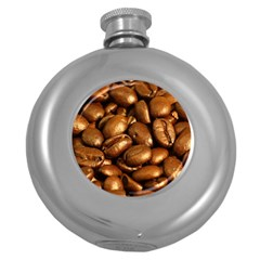 Chocolate Coffee Beans Round Hip Flask (5 Oz) by trendistuff