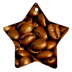 Chocolate Coffee Beans Star Ornament (two Sides)  by trendistuff