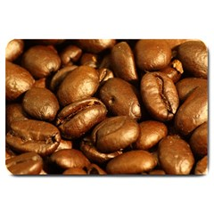Chocolate Coffee Beans Large Doormat  by trendistuff