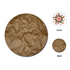 Brown Paper Playing Cards (round)  by trendistuff