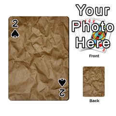 Brown Paper Playing Cards 54 Designs