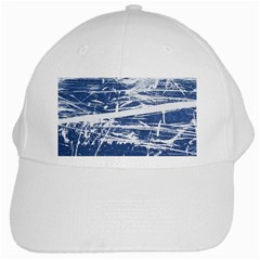 Blue And White Art White Cap by trendistuff