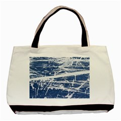 Blue And White Art Basic Tote Bag (two Sides)  by trendistuff