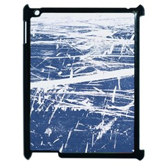 Blue And White Art Apple Ipad 2 Case (black) by trendistuff