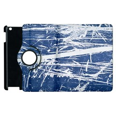 Blue And White Art Apple Ipad 2 Flip 360 Case by trendistuff