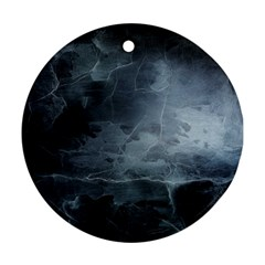 Black Splatter Ornament (round)  by trendistuff