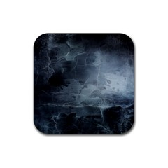 Black Splatter Rubber Coaster (square)  by trendistuff