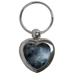 Black Splatter Key Chains (heart)  by trendistuff
