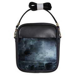 Black Splatter Girls Sling Bags by trendistuff