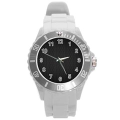 Black Honeycomb Round Plastic Sport Watch (l) by trendistuff