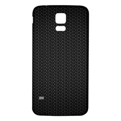 BLACK HONEYCOMB Samsung Galaxy S5 Back Case (White) by trendistuff