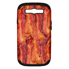 Bacon Samsung Galaxy S Iii Hardshell Case (pc+silicone) by trendistuff