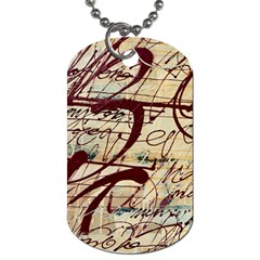 Abstract 2 Dog Tag (one Side) by trendistuff