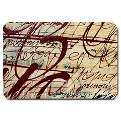 Abstract 2 Large Doormat  by trendistuff