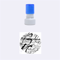 Abstract 2 Rubber Round Stamps (small)