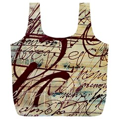 Abstract 2 Full Print Recycle Bags (l)  by trendistuff