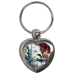 Abstract 1 Key Chains (heart)  by trendistuff