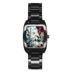 Abstract 1 Stainless Steel Barrel Watch by trendistuff