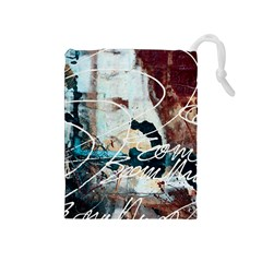 Abstract 1 Drawstring Pouches (medium)  by trendistuff