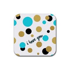 I love you Drink Coaster (Square) by typewriter